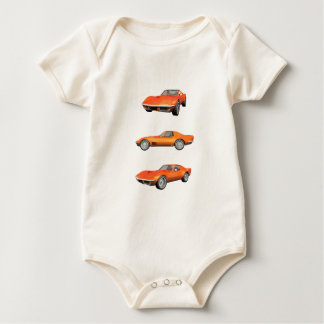 1970 Corvette: Orange Finish Baby Bodysuit