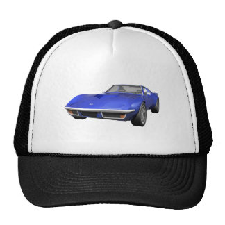 1970 Corvette Sports Car: Blue Finish Mesh Hat