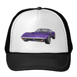 1970 Corvette Sports Car: Purple Finish: Trucker Hat