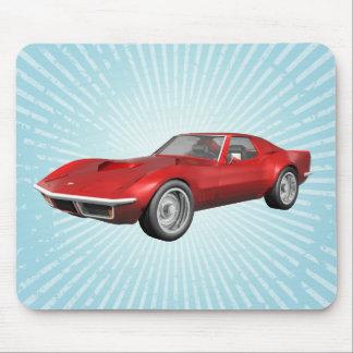 1970 Corvette Sports Car: Red Finish: Mousepad