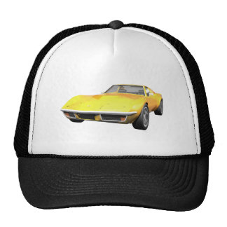 1970 Corvette Sports Car: Yellow Finish Cap