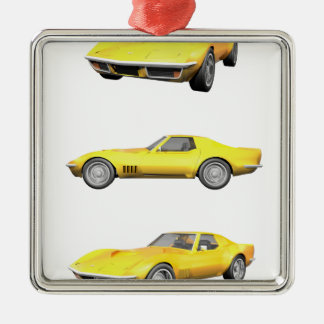 1970 Corvette: Yellow Finish: Christmas Ornament