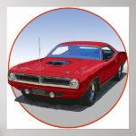 1970 Cuda Coupe Print
