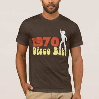 1970 DISCO Baby Graphic RETRO BIRTHDAY Tee