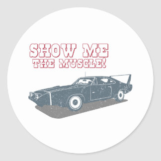 1970 Dodge Charger Daytona Hemi Round Sticker
