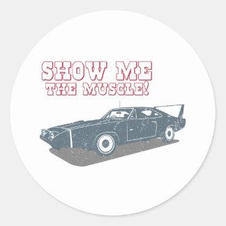 1970 Dodge Charger Daytona Hemi Round Stickers