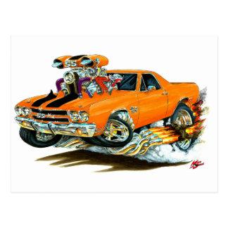 1970 El Camino Orange-Black Truck Postcard