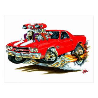 1970 El Camino Red-White Truck Postcard