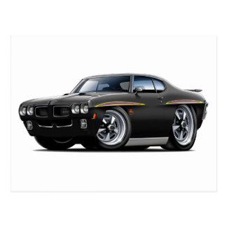1970 GTO Judge Black Car Post Cards