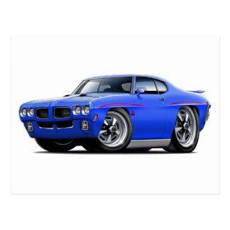 1970 GTO Judge Blue Car Post Card