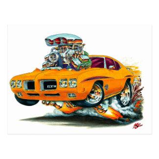 1970 GTO Judge Orange Car Postcard