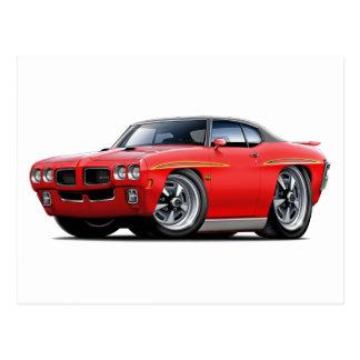 1970 GTO Judge Red-Black Top Car Postcard
