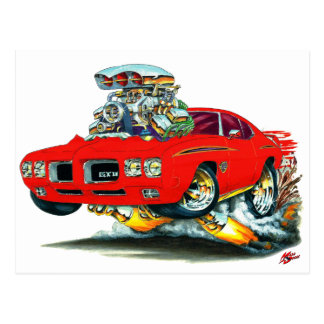 1970 GTO Judge Red Car Postcards