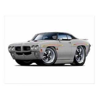 1970 GTO Judge Silver-Black Top Car Postcard
