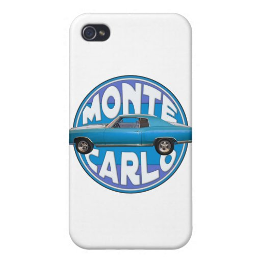1970 monte carlo chevy blue iPhone 4 covers