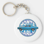 1970 monte carlo chevy blue basic round button key ring