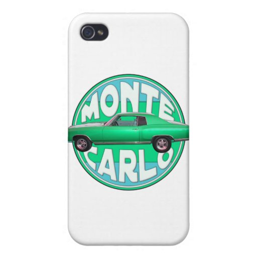 1970 monte carlo seafoam jade iPhone 4 case