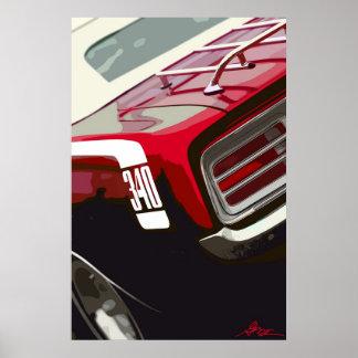 1970 Plymouth Cuda 340 Poster