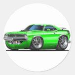 1970 Plymouth Cuda Green Car Sticker