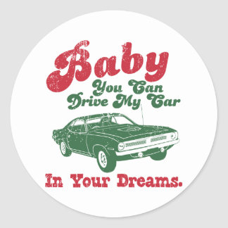 1970 Plymouth Hemi Cuda Round Sticker
