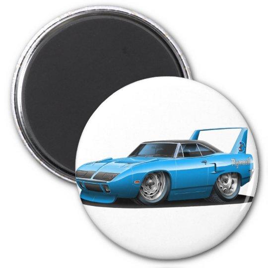 1970 Plymouth Superbird Blue Car 6 Cm Round Magnet
