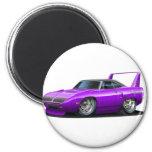 1970 Plymouth Superbird Purple Car 6 Cm Round Magnet