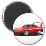 1970 Plymouth Superbird Red Car 6 Cm Round Magnet