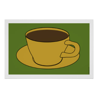 1970 s Coffee Cup Pop Art poster