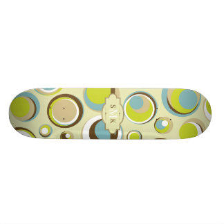 1970's Retro Circle Pattern Comp Skateboard