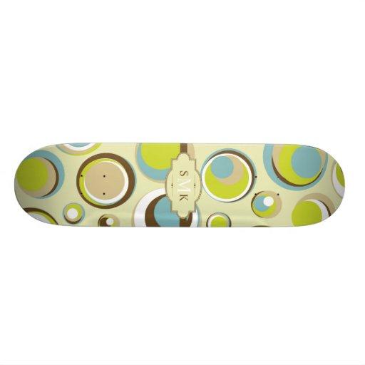 1970's Retro Circle Pattern Comp Skateboard