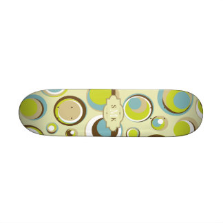 1970's Retro Circle Pattern Mini Skateboard