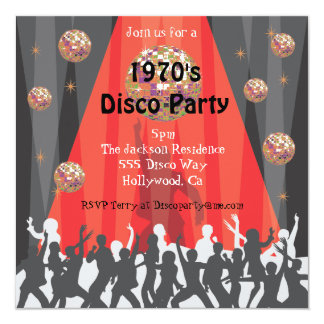 1970's Disco Party Invitation
