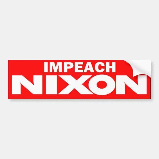 1970s Impeach Nixon Vintage Bumper Sticker