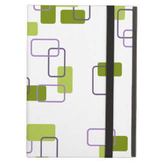 1970's Inspired Retro Geometric Lime Pattern Case For iPad Air