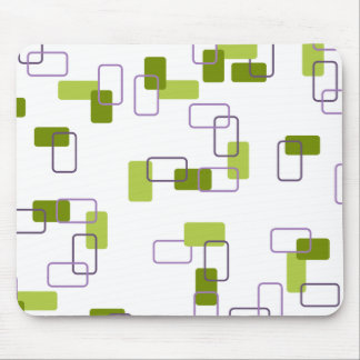 1970's Inspired Retro Geometric Lime Pattern Mouse Pad