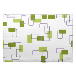 1970's Inspired Retro Geometric Lime Pattern Placemat