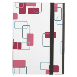 1970s Inspired Retro Geometric Pink Pattern iPad Air Cover