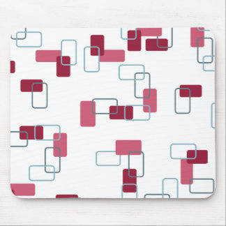 1970's Inspired Retro Geometric Pink Pattern Mouse Pad