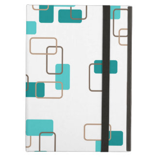 1970's Inspired Retro Geometric Teal Pattern Cover For iPad Air