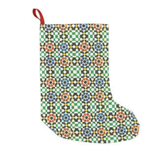 1970s Moroccan Color Pattern Small Christmas Stocking