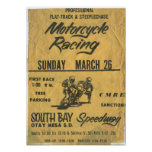 1970s Motorcycle South Bay Speedway Race Poster Print