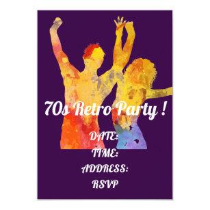 70s Theme Party Invitations Announcements Zazzle Uk