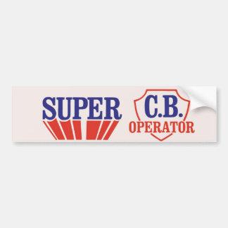 1970s Vintage Super CB Operator Bumper Sticker