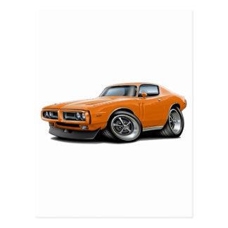 1971-72 Charger Orange Car Postcards