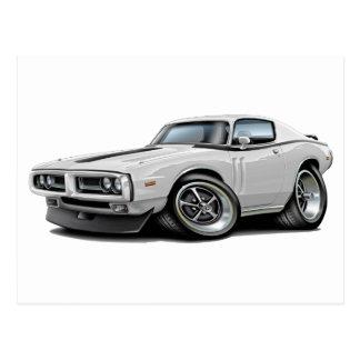1971-72 Charger White-Black Car Postcard