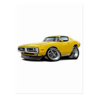 1971-72 Charger Yellow Chrome Bumper Postcard