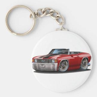 1971-72 Chevelle Maroon-Black Convertible Key Ring