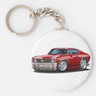 1971-72 Chevelle Maroon Car Key Ring