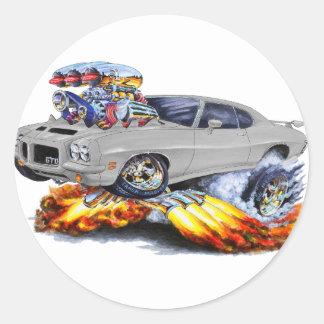 1971-72 GTO Grey Car Stickers