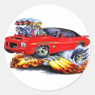 1971-72 GTO Judge Red-Black Car Round Sticker